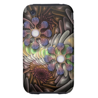 Cool abstract iPhone 3 case with Fantasy flowers