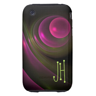 Cool abstract iPhone 3 case with monogram