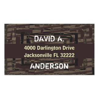 Cool abstract masculin acajou mahogany pack of standard business cards