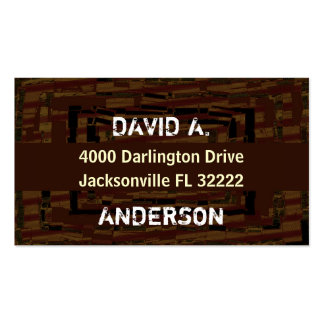 Cool abstract masculin autumn brown pack of standard business cards