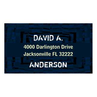 Cool abstract masculin blue pack of standard business cards