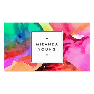 Cool Abstract Multi-color Watercolors II Pack Of Standard Business Cards