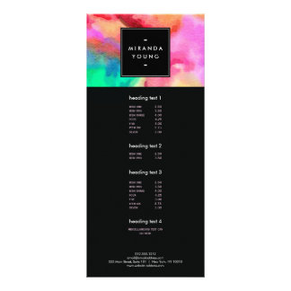 Cool Abstract Multi-color Watercolors Modern Rack Cards