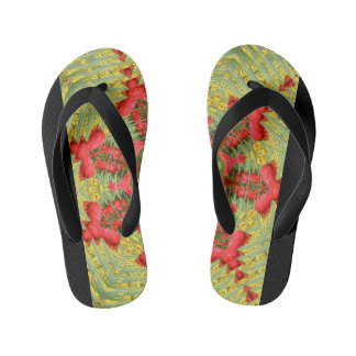 Cool Abstract Tulip Flip-Flop Thongs