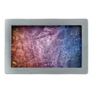 Cool Acrylic colors splash texture background Belt Buckle