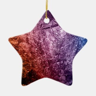 Cool Acrylic colors splash texture background Ceramic Ornament