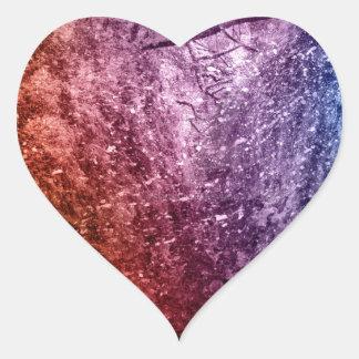 Cool Acrylic colors splash texture background Heart Sticker