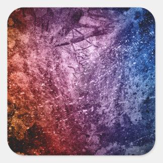 Cool Acrylic colors splash texture background Square Sticker