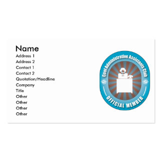 Cool Administrative Assistants Club Business Card Template
