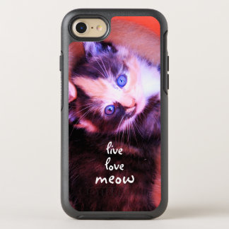 Cool Adorable Kitten Live Love Meow OtterBox Symmetry iPhone 8/7 Case