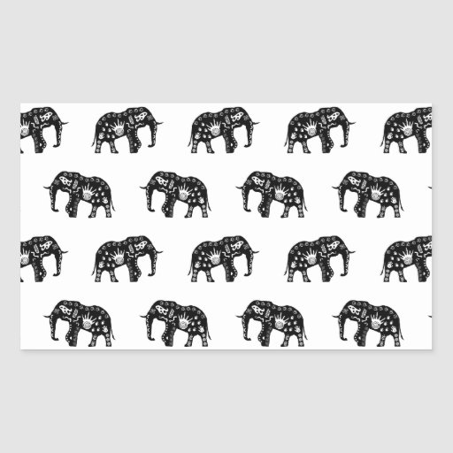 Cool Africa Pattern Elephant Picture Sticker