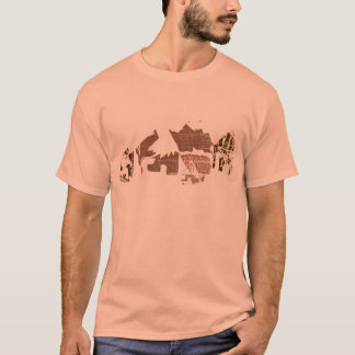 Cool African  Village Tee For Men