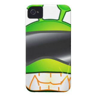 Cool Alien with glasses Case-Mate iPhone 4 Cases