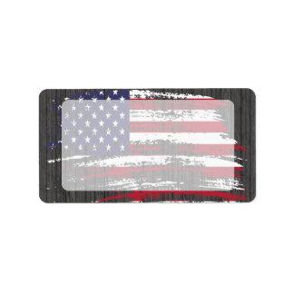 Cool American flag design Address Label