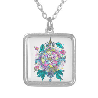 Cool and colorful dreamcatcher personalized necklace