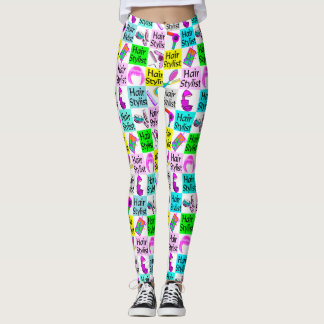 COOL AND COLORFUL HAIR STYLIST LEGGINGS