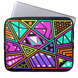 Cool and colorful shapes on laptop sleeve