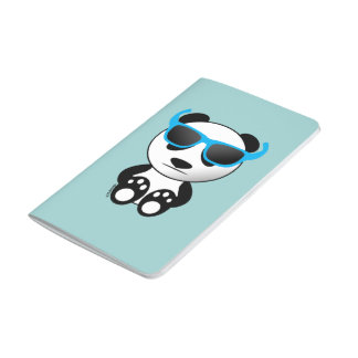 Cool and cute panda bear with sunglasses journals