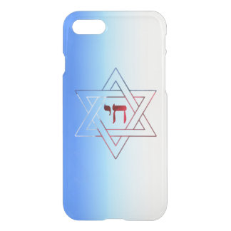 Cool and Elegant Star of David and Chai iPhone 7 Case