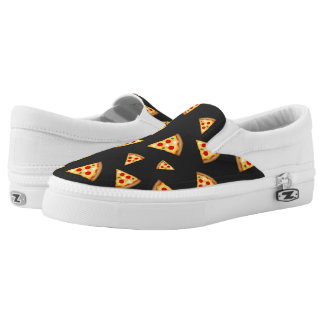 Cool and fun pizza slices pattern slip on shoes
