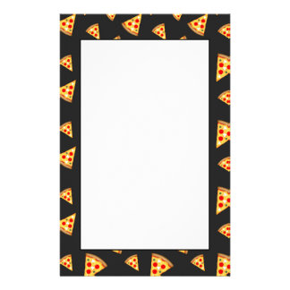 Cool and fun pizza slices pattern stationery