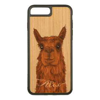 Cool and Funny Alpaca. Carved iPhone 8 Plus/7 Plus Case