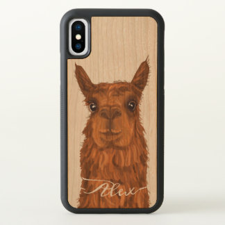 Cool and Funny Alpaca. iPhone X Case