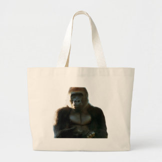 Cool and Funny Gorilla Monkey Animal Large Tote Bag