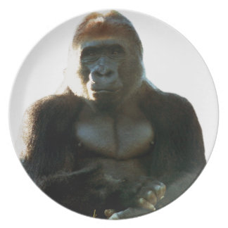 Cool and Funny Gorilla Monkey Animal Plate