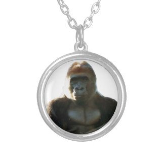 Cool and Funny Gorilla Monkey Animal Silver Plated Necklace