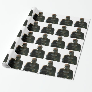 Cool and Funny Gorilla Monkey Animal Wrapping Paper