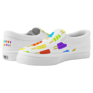 Cool and funny popsicle pattern slip on shoes
