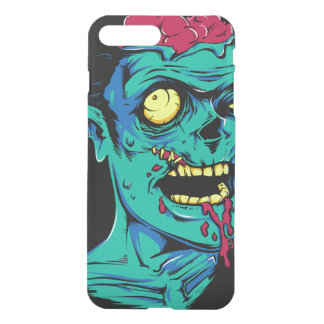 Cool and Funny Zombie Horror Face - Transparent iPhone 7 Plus Case