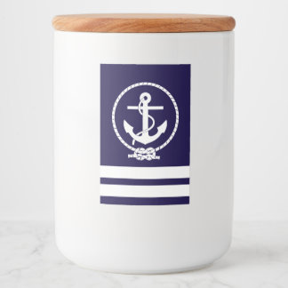 Cool and Stylish Nautical Theme Food Label