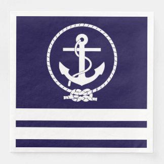Cool and Stylish Nautical Theme Paper Napkins