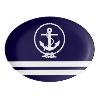 Cool and Stylish Nautical Theme Porcelain Serving Platter