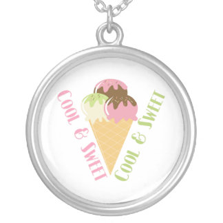 Cool and Sweet Round Pendant Necklace
