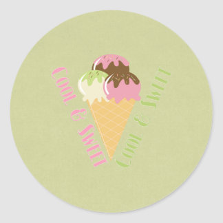 Cool and Sweet Round Sticker