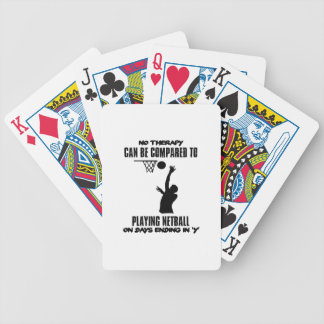 cool and trending netball DESIGNS Bicycle Playing Cards