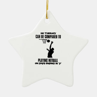 cool and trending netball DESIGNS Ceramic Ornament