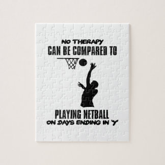 cool and trending netball DESIGNS Jigsaw Puzzle