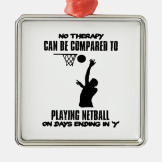 cool and trending netball DESIGNS Metal Ornament