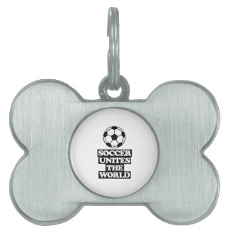 cool  and trending soccer DESIGNS Pet ID Tag