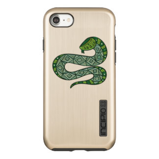 Cool and Trendy Green Fashion Snake Serpent Incipio DualPro Shine iPhone 8/7 Case