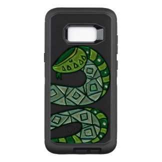 Cool and Trendy Green Fashion Snake Serpent OtterBox Defender Samsung Galaxy S8+ Case