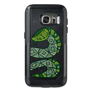 Cool and Trendy Green Fashion Snake Serpent OtterBox Samsung Galaxy S7 Case