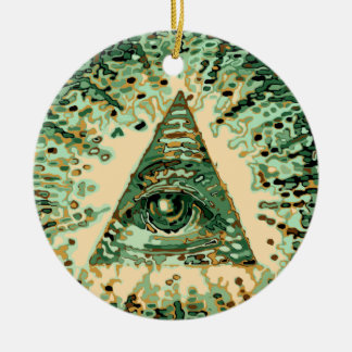 Cool and Unique Camouflage Illuminati Ceramic Ornament