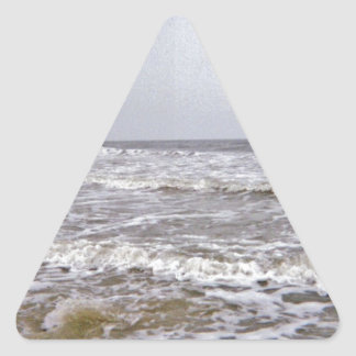 Cool and Windy Day Along the Coast Triangle Sticker