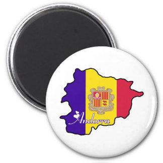 Cool Andorra 6 Cm Round Magnet