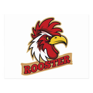 Cool Angry Rooster T-Shirt Postcard